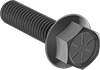High-Strength Grade 8 Steel Flanged Hex Head Screws