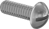 Brass Decorative Round Head Slotted Screws