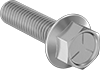 Medium-Strength Grade 5 Steel Flanged Hex Head Screws