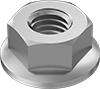 Metric 18-8 Stainless Steel Flange Nuts