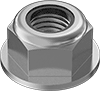 Medium-Strength Steel Nylon-Insert Flange Locknuts—Grade F