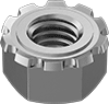 Metric Steel Locknuts with External-Tooth Lock Washer