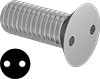 Metric Tamper-Resistant Drilled Spanner Flat Head Screws