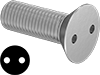 Tamper-Resistant Drilled Spanner Flat Head Screws
