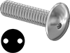 Extra-Wide Tamper-Resistant Drilled Spanner Truss Head Screws