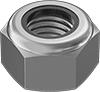 Metric Super-Corrosion-Resistant 316 Stainless Steel Nylon-Insert Locknuts