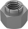 Metric Steel Flex-Top Locknuts for Heavy Vibration