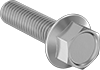 Extreme-Strength Stainless Steel Flanged Hex Head Screws