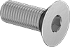 Fine-Thread Metric 316 Stainless Steel Hex Drive Flat Head Screws