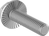 Extra-Wide Serrated-Flange Hex Head Screws