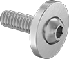 Aluminum Ultra-Wide Flanged Button Head Screws