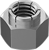 Metric Stainless Steel Flex-Top Locknuts for Heavy Vibration