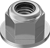 Metric Stainless Steel Nylon-Insert Flange Locknuts