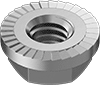 Low-Strength Steel Serrated Flange Locknuts