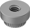 Steel Press-Fit Nuts for Soft Metal and Plastic