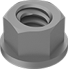 Mil. Spec. Low-Strength Steel Distorted-Thread Flange Locknuts