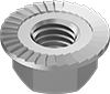 Metric Medium-Strength Steel Serrated Flange Locknuts—Class 8