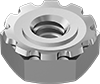 Stainless Steel Locknuts with External-Tooth Lock Washer