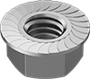 High-Strength Steel Serrated Flange Locknuts—Grade 8