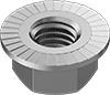 Metric High-Strength Steel Serrated Flange Locknuts—Class 10