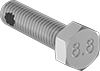 Medium-Strength Metric Class 8.8 Steel Thread-Locking Hex Head Screws