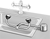 ANSI-Compliant Sink-Mount Eye Wash Stations with Pipe Connection