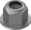Metric High-Strength Steel Nylon-Insert Flange Locknuts—Class 10