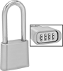 Weather-Resistant Extra-Clearance Resettable Combination Padlocks
