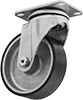 Nonmarking High-Temperature Casters with Rubber Wheels