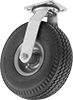 Flat-Free Casters with Polyurethane Wheels
