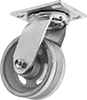 High-Capacity V-Groove Wheel Track Casters with Metal Wheels