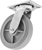 Cushioned-Load Casters with Rubber Wheels