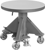 Turntable-Top Foot-Operated Mobile Lift Tables