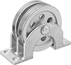 Mounted Pulleys for Wire Rope—For Horizontal Pulling