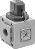Safety Lockout Valves for ASCO Modular Compressed Air Filter/Regulator/Lubricators (FRLs)