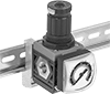 DIN-Mount Compressed Air Regulators