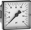 Square Panel-Mount Pressure Gauges