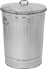 Metal Waste Containers with Lift-Off Lid