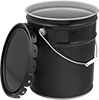 UN-Compliant Shipping Pails with Tab-Lock Lids