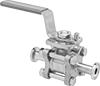 On/Off Valves with Sanitary Quick-Clamp Fittings for Food and Beverage