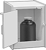 Tabletop Safety Cabinets for Nonflammable Acids and Corrosives