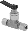 Fast-Acting Panel-Mount On/Off Valves with Yor-Lok Fittings