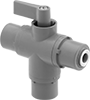 Diverting Valves with Push-to-Connect Fittings