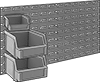 Design-Your-Own Static-Control Wall-Mount Bin-Box Racks