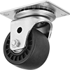 High-Capacity Low-Profile Casters with Nylon Wheels