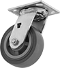 High-Capacity Food Industry Casters with Polyurethane Wheels