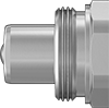 High-Pressure Thread-Lock Quick-Disconnect Hose Couplings for Hydraulic Fluid