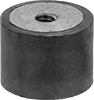 Metric Corrosion-Resistant Vibration-Damping Sandwich Mounts with Inserts