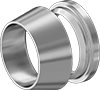 Front and Back Sleeves for Yor-Lok Fittings for Steel Tubing
