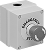 Aluminum Emergency Stop Enclosed Push-Button Switches